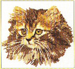 click here to view larger image of Cat (counted cross stitch kit)