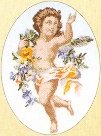 click here to view larger image of Cherub (counted cross stitch kit)