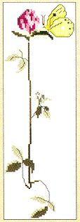 click here to view larger image of Clover With Butterfly (counted cross stitch kit)