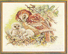 click here to view larger image of Mother Owl (counted cross stitch kit)