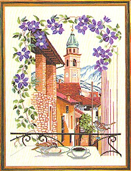 click here to view larger image of Terrace View (counted cross stitch kit)