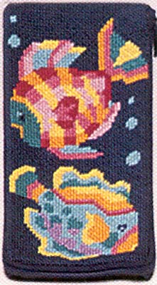 click here to view larger image of Tropical Fish Eyeglass case (needlepoint kits)