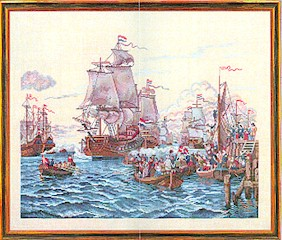 click here to view larger image of Ships In A Harbor (counted cross stitch kit)