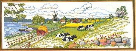 click here to view larger image of Pasture Scene (counted cross stitch kit)