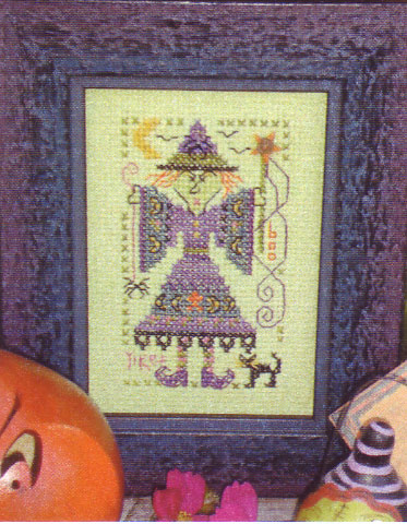 click here to view larger image of Wanda Witch (counted cross stitch kit)