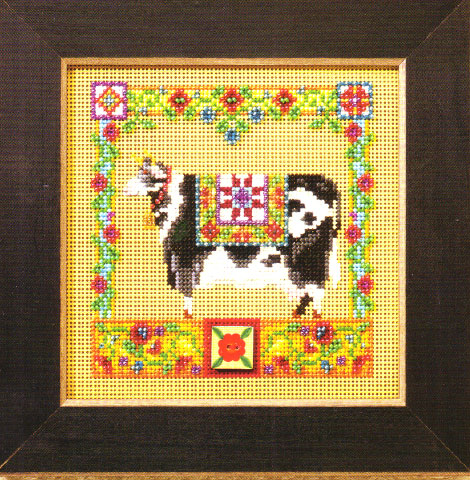 click here to view larger image of Clarissa Cow (counted cross stitch kit)