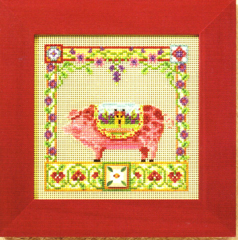 click here to view larger image of Percy Pig (counted cross stitch kit)