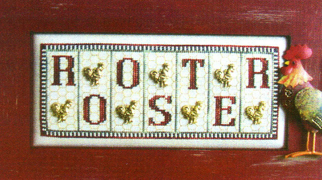 click here to view larger image of Rooster (mini blocks) (chart with charms/buttons)