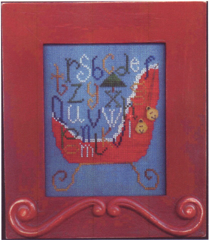 click here to view larger image of All in a Sleigh (counted cross stitch kit)