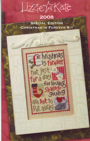 click here to view larger image of Christmas is Forever 2008  (counted cross stitch kit)
