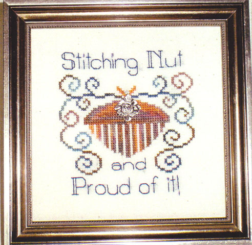 click here to view larger image of Stitching Nut (chart with charms/buttons)