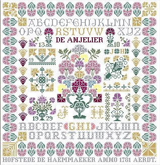 click here to view larger image of Carnation Sampler (chart)