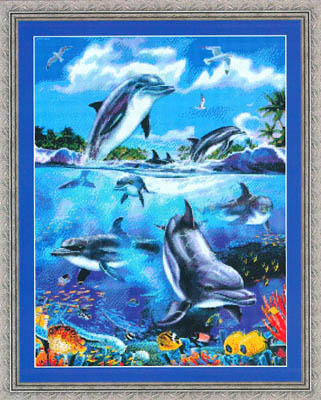 click here to view larger image of Dolphins At Play (chart)