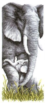 click here to view larger image of Mother and Baby Elephant  (5403) (needlepoint kits)