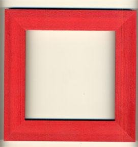 click here to view larger image of Mill Hill Frame - Holiday Red (frame (ready made))
