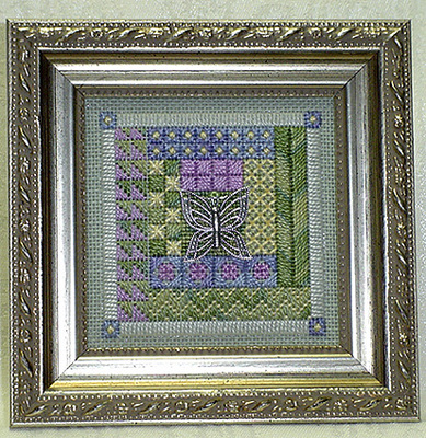 click here to view larger image of Butterfly Garden Mini Quilt (counted canvas work)