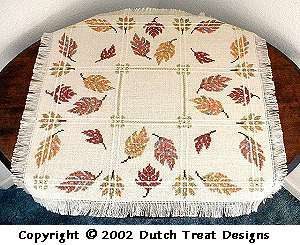 click here to view larger image of Autumn Leaves Tabletopper (chart)