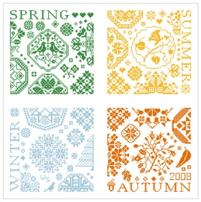 click here to view larger image of Sampler 4 Seasons (chart)