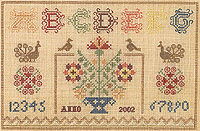 click here to view larger image of Dutch Sampler (counted cross stitch kit)