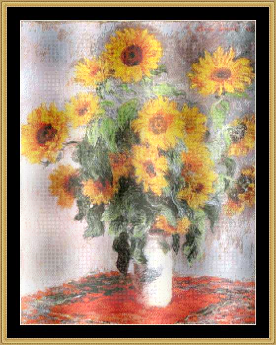 click here to view larger image of Bouquet of Sunflowers  (chart)