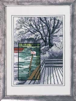 click here to view larger image of Bathing Jetty (counted cross stitch kit)