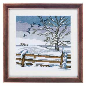click here to view larger image of Birds Winter Scene (counted cross stitch kit)