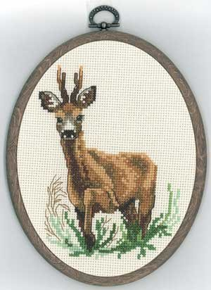 click here to view larger image of Deer (counted cross stitch kit)