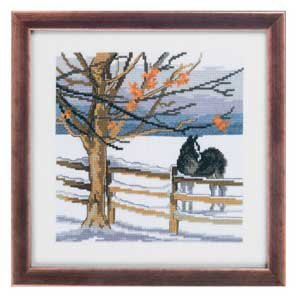click here to view larger image of Horse Winter Scene (counted cross stitch kit)