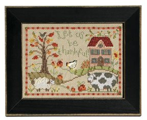 click here to view larger image of Welcome Home Calendar Series November - Let Us Be Thankful (counted cross stitch kit)
