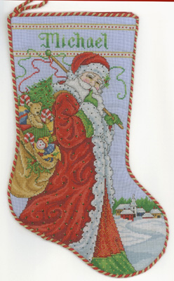 click here to view larger image of Santa's Visit Stocking (chart)