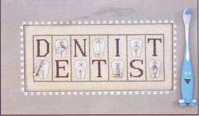 click here to view larger image of Dentist - Mini Blocks (chart with charms/buttons)