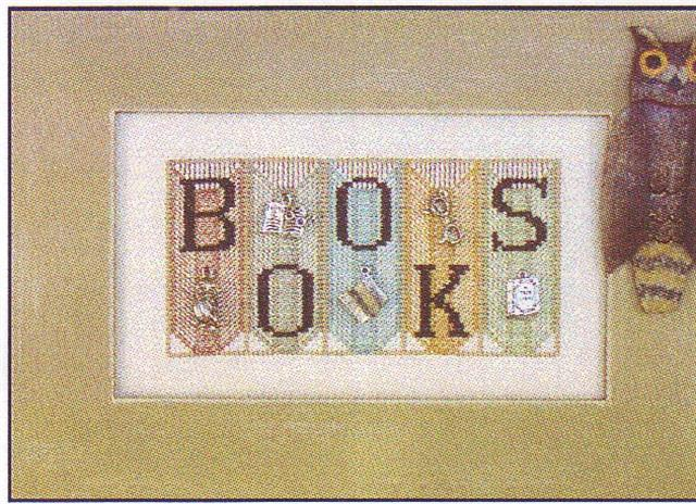 click here to view larger image of Books - Mini Blocks (chart with charms/buttons)