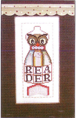 click here to view larger image of Book Reader - Dress Form (chart with charms/buttons)