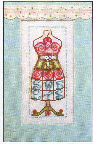 click here to view larger image of Sweet Cake  - Dress Form (chart with charms/buttons)
