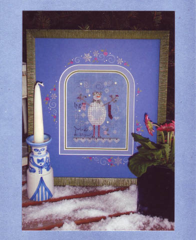 click here to view larger image of Blue Snowman (counted cross stitch kit)