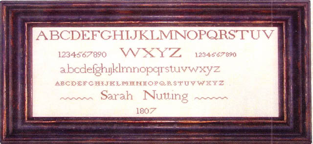 click here to view larger image of Sarah Nutting - Ackworth School 1807 (chart)