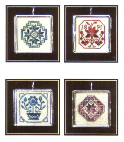 click here to view larger image of Milady's Quaker Pendants II (counted cross stitch kit)