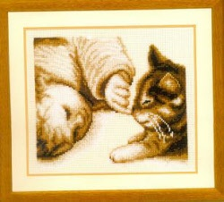 click here to view larger image of You've a cute kitten nose (counted cross stitch kit)