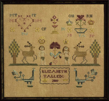 click here to view larger image of Adam & Eve Sampler (chart)