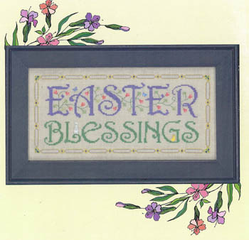 click here to view larger image of Easter Blessings (chart)