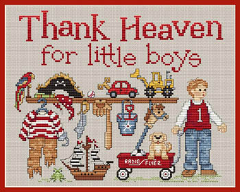 click here to view larger image of Thank Heaven For Little Boys (chart)