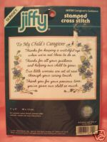 click here to view larger image of Caregiver's Guidance (stamped cross stitch kit)