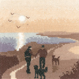 click here to view larger image of Morning Walk - Silhouettes (counted cross stitch kit)
