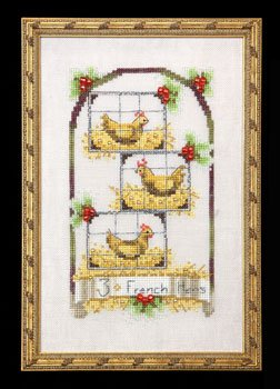 click here to view larger image of Three French Hens - Twelve Days of Christmas (chart)
