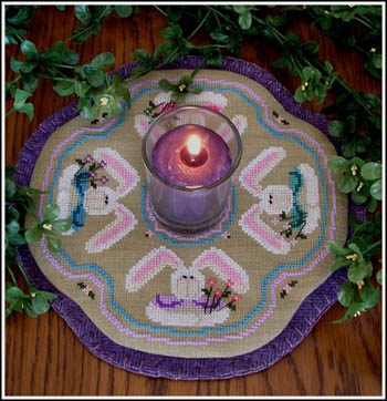 click here to view larger image of Little Candle Mats - Bunnies (chart)