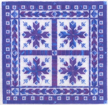 click here to view larger image of Nordic Snowflakes (counted canvas chart)