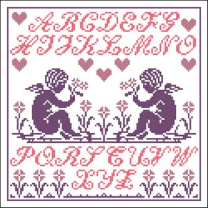 click here to view larger image of Little Angel Sampler (chart)