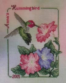 click here to view larger image of Anna's Hummingbird (2005) (chart)