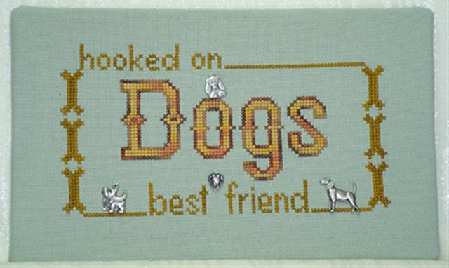 click here to view larger image of Hooked on Dogs (chart with charms/buttons)