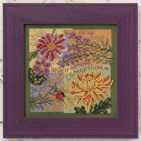click here to view larger image of Fall Blooms (counted cross stitch kit)